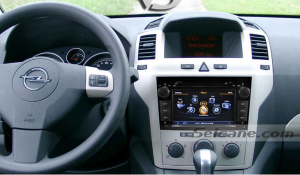 head unit after installation,autoradio with aftermarket gps nav system of 2008 2009 2010 2011 OPEL Corsa