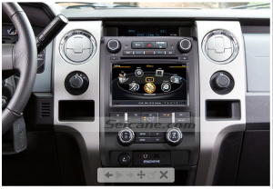 new stereo after installation,dvd player with gps bluetooth touch screen of 2009 2010 2011 2012 Ford F150 F250 F350