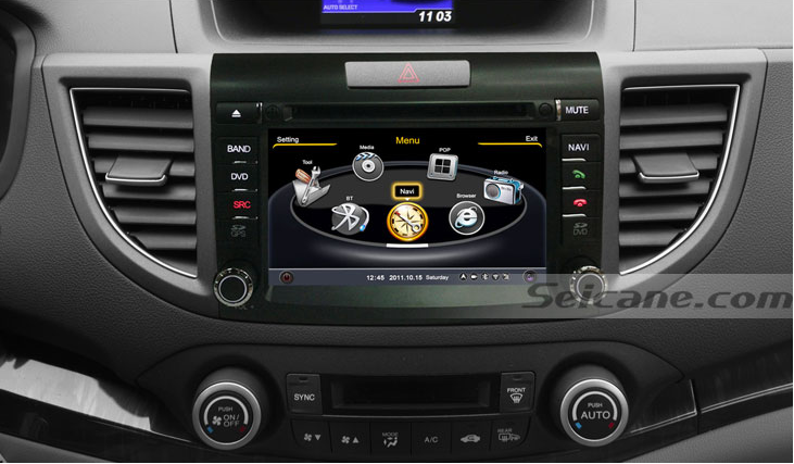 New Unit After Installationaftermarket Sat Navi System Of Honda Cr V on 2010 honda cr v navigation system