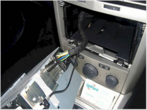 loosen trigger on interfaces to remove,remove cables and car stereo