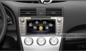 Head unit after installation,GPS dvd navigation system of 2006-2011 Toyota Camry