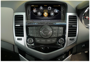 car radio after installation,aftermarket gps dvd with bluetooth music of 2009 2010 2011 2012 Chevrolet Cruze