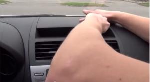 Unclip and remove center trim panel
