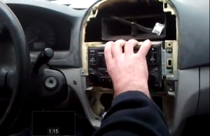 remove the original radio off the car