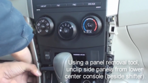 2012 Toyota Corolla Radio installation step 1