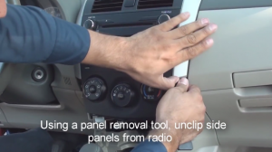2012 Toyota Corolla Radio installation step 6