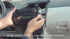 2012 Toyota Corolla Radio installation step 9