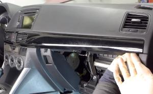 2013 2014 2015 Mazda CX-5 Radio installation step 4