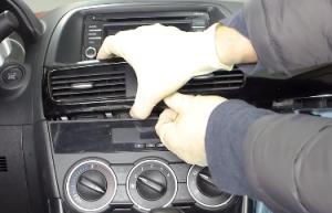 2013 2014 2015 Mazda CX-5 Radio installation step 5