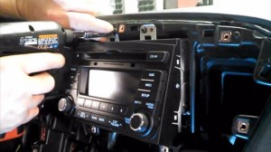 2014-2015 KIA K5 Radio removal step 11