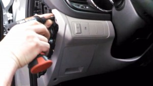2014-2015 KIA K5 Radio removal step 2