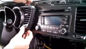 2014-2015 KIA K5 Radio removal step 8