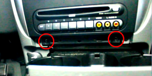 2002 2003 2004 Chrysler 300M radio installation step 2