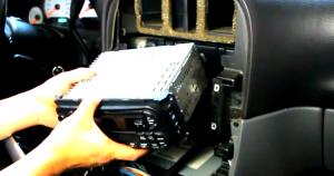 2002 2003 2004 Chrysler 300M radio installation step 5