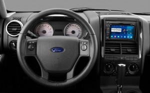 2006-2011 Ford Explorer Radio after installation