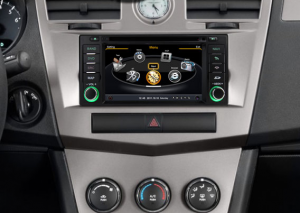 2007-2010 Chrysler Sebring car stereo after installation