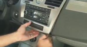 2007-2010 Chrysler Sebring car stereo installation step 1