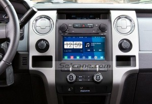 2009-2012 Ford F150 Radio after installation