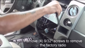 2009-2012 Ford F150 Radio installation step 5