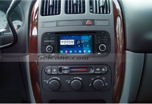 2002 2003 Chrysler Durango head unit  after installation