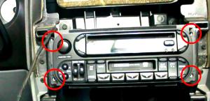 2003 2004 2005 2006 Jeep Wrangler car stereo installation step 4