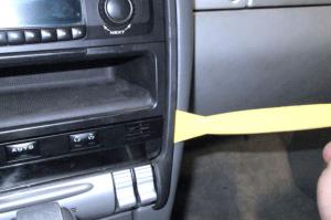 2003-2011 Porsche Cayenne radio installaion step 1