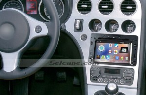 2006 Alfa Romeo Spider Radio after installation