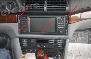 1996-2003 BMW 5 E39 car stereo installation step 3