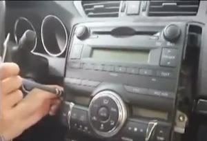 2010 Toyota REIZ Radio installation step 2