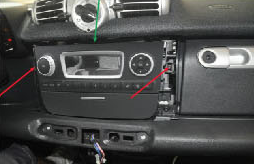 2011 2012 2013 2014 Mercedes Benz Smart head unit installation step 6