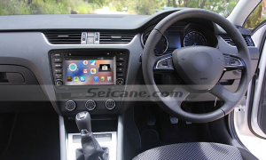 2014 2015 Skoda Octaiva head unit after installation
