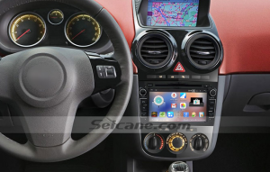 2006-2011 Opel Corsa head unit after installation