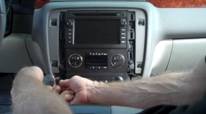 2007-2012 Chevy Chevrolet Tahoe head unit installation step 1 (2)