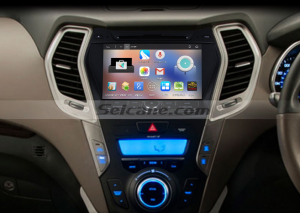 2013 2014 Hyundai Santa Fe ix45 radio after installation