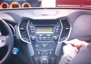 2013 2014 Hyundai Santa Fe ix45 radio installation step 1-1