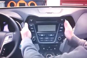 2013 2014 Hyundai Santa Fe ix45 radio installation step 4
