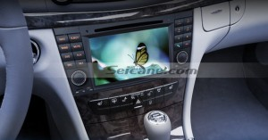 2002-2008 Mercedes-Benz E-Class W211 head unit after installation