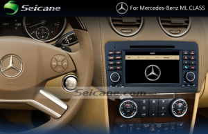 2005-2012 Mercedes-Benz ML CLASS W164 W166 head unit  after installation