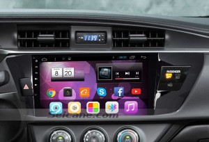 2013 2014 Toyota LEVIN head unit after installation