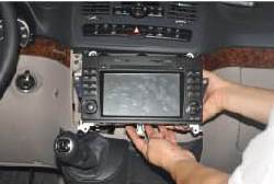 11. Install the new Seicane stereo into the dashboard