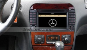 1998-2005 Mercedes Benz CL W215 car stereo after installation