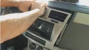 2-1.Take the panel off the dash and disconnect the wires from the car.