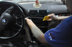2. Use a lever to remove the trim strip.