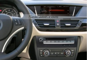 2009-2013 BMW X1 E84 head unit after installation