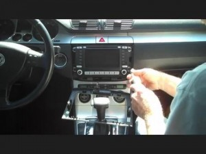 Remove the 2013 2014 2015 VW Volkswagen BORA head unit four screws on the radio