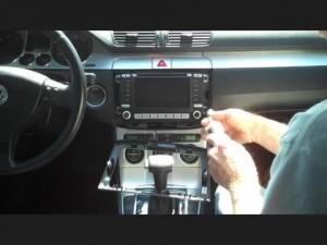 Remove the 2013 2014 2015 VW Volkswagen BORA head unit four screws on the radio