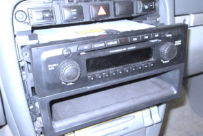 3. Carefully take the factory stereo out of the dash