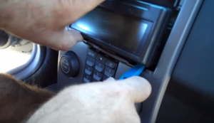 4. Remove the dash with a lever