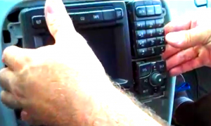6. Take the original radio out of the dashboard.
