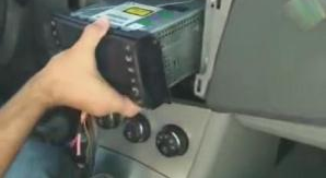 6.Connect the wire as the user manual shows and put the new unit into the dash.
